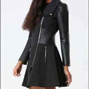 NWT Bebe Natasha moto trench coat